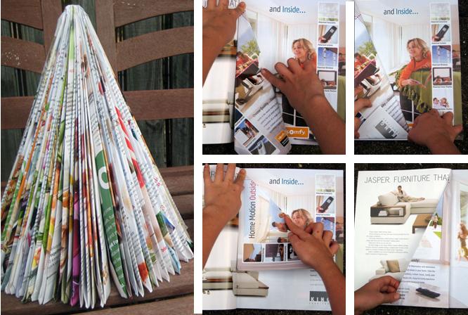 Ёлки из журналов своими руками