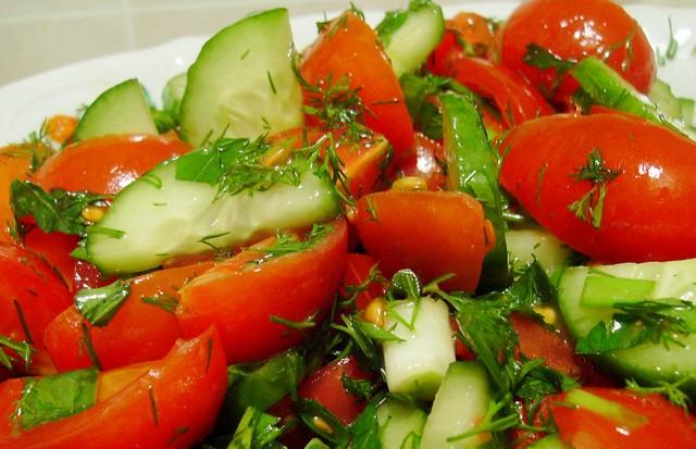 Овощные салаты в фото